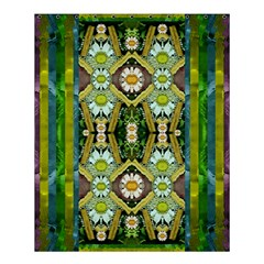 Bread Sticks And Fantasy Flowers In A Rainbow Shower Curtain 60  X 72  (medium)  by pepitasart