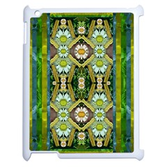 Bread Sticks And Fantasy Flowers In A Rainbow Apple iPad 2 Case (White)