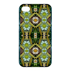 Bread Sticks And Fantasy Flowers In A Rainbow Apple iPhone 4/4S Hardshell Case