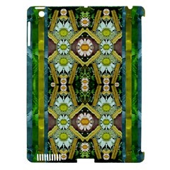 Bread Sticks And Fantasy Flowers In A Rainbow Apple iPad 3/4 Hardshell Case (Compatible with Smart Cover)