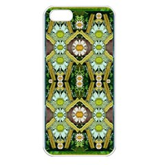 Bread Sticks And Fantasy Flowers In A Rainbow Apple iPhone 5 Seamless Case (White)