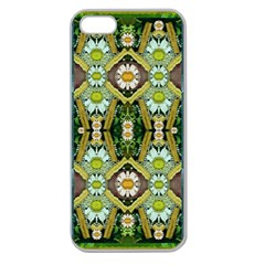 Bread Sticks And Fantasy Flowers In A Rainbow Apple Seamless Iphone 5 Case (clear) by pepitasart