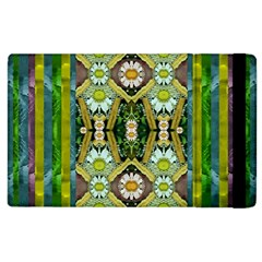 Bread Sticks And Fantasy Flowers In A Rainbow Apple iPad 3/4 Flip Case