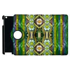 Bread Sticks And Fantasy Flowers In A Rainbow Apple iPad 3/4 Flip 360 Case