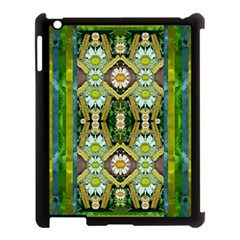 Bread Sticks And Fantasy Flowers In A Rainbow Apple iPad 3/4 Case (Black)