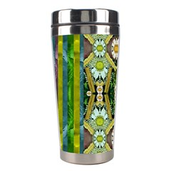 Bread Sticks And Fantasy Flowers In A Rainbow Stainless Steel Travel Tumblers