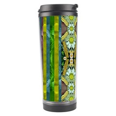 Bread Sticks And Fantasy Flowers In A Rainbow Travel Tumbler