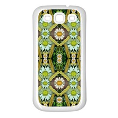 Bread Sticks And Fantasy Flowers In A Rainbow Samsung Galaxy S3 Back Case (White)