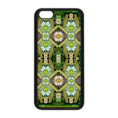 Bread Sticks And Fantasy Flowers In A Rainbow Apple iPhone 5C Seamless Case (Black)
