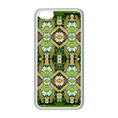 Bread Sticks And Fantasy Flowers In A Rainbow Apple Iphone 5c Seamless Case (white) by pepitasart