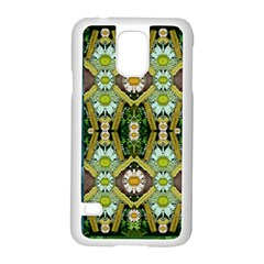 Bread Sticks And Fantasy Flowers In A Rainbow Samsung Galaxy S5 Case (White)