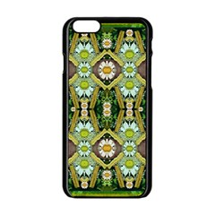 Bread Sticks And Fantasy Flowers In A Rainbow Apple iPhone 6/6S Black Enamel Case