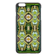 Bread Sticks And Fantasy Flowers In A Rainbow Apple iPhone 6 Plus/6S Plus Black Enamel Case