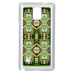 Bread Sticks And Fantasy Flowers In A Rainbow Samsung Galaxy Note 4 Case (White)
