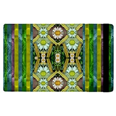 Bread Sticks And Fantasy Flowers In A Rainbow Apple Ipad Pro 9 7   Flip Case by pepitasart