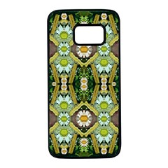 Bread Sticks And Fantasy Flowers In A Rainbow Samsung Galaxy S7 Black Seamless Case