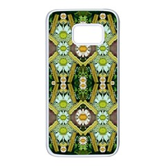 Bread Sticks And Fantasy Flowers In A Rainbow Samsung Galaxy S7 White Seamless Case