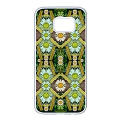 Bread Sticks And Fantasy Flowers In A Rainbow Samsung Galaxy S7 edge White Seamless Case