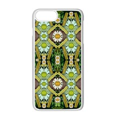Bread Sticks And Fantasy Flowers In A Rainbow Apple iPhone 7 Plus Seamless Case (White)
