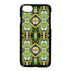 Bread Sticks And Fantasy Flowers In A Rainbow Apple iPhone 7 Seamless Case (Black)