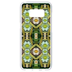Bread Sticks And Fantasy Flowers In A Rainbow Samsung Galaxy S8 White Seamless Case