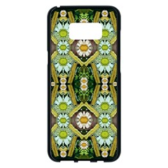 Bread Sticks And Fantasy Flowers In A Rainbow Samsung Galaxy S8 Plus Black Seamless Case