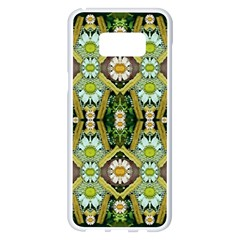 Bread Sticks And Fantasy Flowers In A Rainbow Samsung Galaxy S8 Plus White Seamless Case
