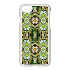 Bread Sticks And Fantasy Flowers In A Rainbow Apple iPhone 8 Seamless Case (White)