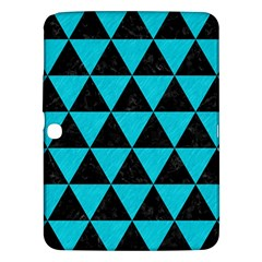 Triangle3 Black Marble & Turquoise Colored Pencil Samsung Galaxy Tab 3 (10 1 ) P5200 Hardshell Case  by trendistuff