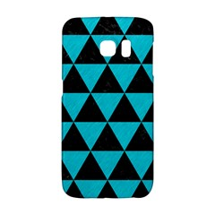 Triangle3 Black Marble & Turquoise Colored Pencil Galaxy S6 Edge by trendistuff