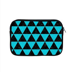 Triangle3 Black Marble & Turquoise Colored Pencil Apple Macbook Pro 15  Zipper Case by trendistuff