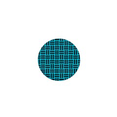 Woven1 Black Marble & Turquoise Colored Pencil 1  Mini Magnets by trendistuff