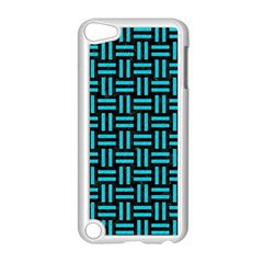 Woven1 Black Marble & Turquoise Colored Pencil (r) Apple Ipod Touch 5 Case (white) by trendistuff