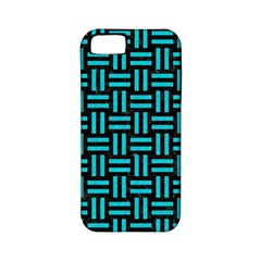 Woven1 Black Marble & Turquoise Colored Pencil (r) Apple Iphone 5 Classic Hardshell Case (pc+silicone) by trendistuff