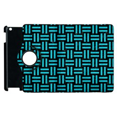 Woven1 Black Marble & Turquoise Colored Pencil (r) Apple Ipad 3/4 Flip 360 Case by trendistuff