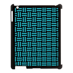 Woven1 Black Marble & Turquoise Colored Pencil (r) Apple Ipad 3/4 Case (black) by trendistuff