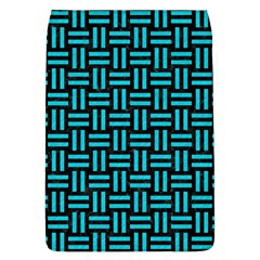 Woven1 Black Marble & Turquoise Colored Pencil (r) Flap Covers (l)  by trendistuff