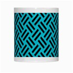 WOVEN2 BLACK MARBLE & TURQUOISE COLORED PENCIL White Mugs Center