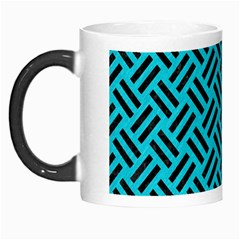 Woven2 Black Marble & Turquoise Colored Pencil Morph Mugs by trendistuff