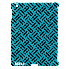 Woven2 Black Marble & Turquoise Colored Pencil Apple Ipad 3/4 Hardshell Case (compatible With Smart Cover) by trendistuff