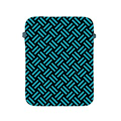 Woven2 Black Marble & Turquoise Colored Pencil (r) Apple Ipad 2/3/4 Protective Soft Cases by trendistuff
