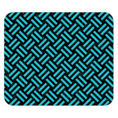 Woven2 Black Marble & Turquoise Colored Pencil (r) Double Sided Flano Blanket (small)  by trendistuff