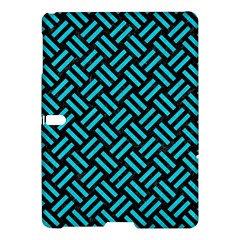 Woven2 Black Marble & Turquoise Colored Pencil (r) Samsung Galaxy Tab S (10 5 ) Hardshell Case