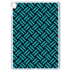Woven2 Black Marble & Turquoise Colored Pencil (r) Apple Ipad Pro 9 7   White Seamless Case by trendistuff