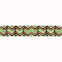 Zig Zag Multicolored Ethnic Pattern Small Bar Mats by dflcprintsclothing