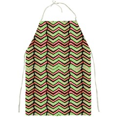 Zig Zag Multicolored Ethnic Pattern Full Print Aprons by dflcprintsclothing