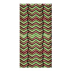 Zig Zag Multicolored Ethnic Pattern Shower Curtain 36  X 72  (stall)  by dflcprintsclothing
