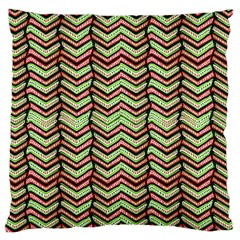 Zig Zag Multicolored Ethnic Pattern Large Cushion Case (one Side) by dflcprintsclothing