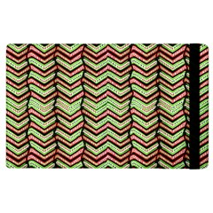 Zig Zag Multicolored Ethnic Pattern Apple Ipad 3/4 Flip Case by dflcprintsclothing