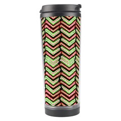Zig Zag Multicolored Ethnic Pattern Travel Tumbler by dflcprintsclothing